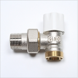 Angle Lockshield Regulating Valve. For connecxting Pex-Al-Pex pipe to radiators